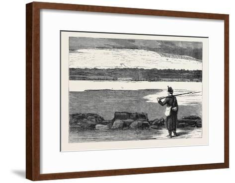 The War in the East: Rustchuk: the Strongest Turkish Position on the Danube; Romanian Guard--Framed Art Print