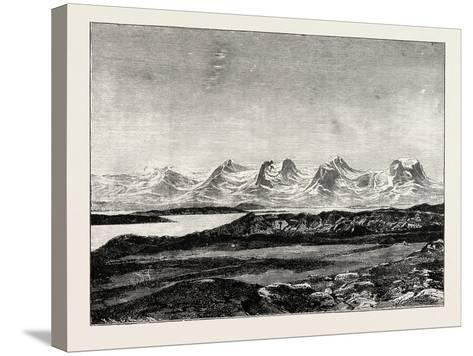 The Seven Sisters. De Syv Søstre (Seven Sisters), a Mountain Formation in Helgeland, Norway--Stretched Canvas Print