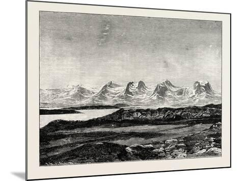 The Seven Sisters. De Syv Søstre (Seven Sisters), a Mountain Formation in Helgeland, Norway--Mounted Giclee Print