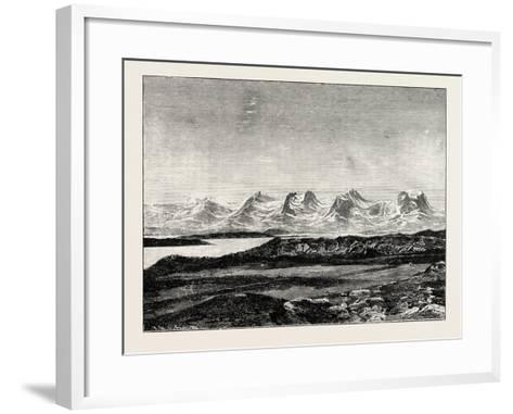 The Seven Sisters. De Syv Søstre (Seven Sisters), a Mountain Formation in Helgeland, Norway--Framed Art Print