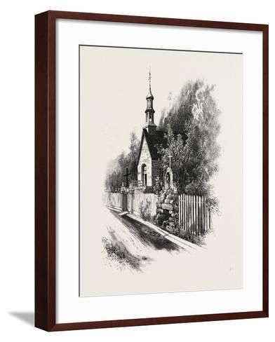 French Canadian Life, Chapel and Grotto at Ste. Anne De Beaupre, Canada, Nineteenth Century--Framed Art Print