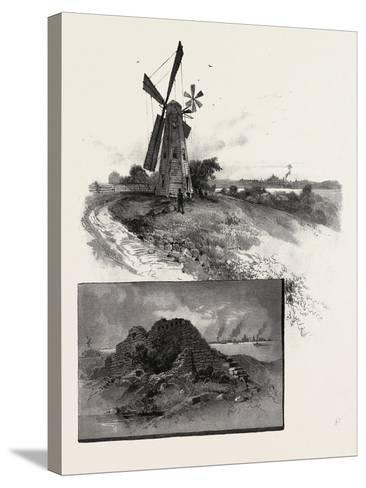 Niagara District, Old Fort Erie, and Windmill, Canada, Nineteenth Century--Stretched Canvas Print