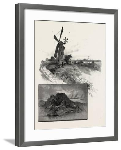 Niagara District, Old Fort Erie, and Windmill, Canada, Nineteenth Century--Framed Art Print