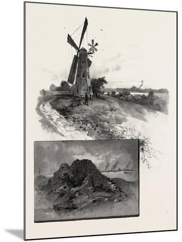 Niagara District, Old Fort Erie, and Windmill, Canada, Nineteenth Century--Mounted Giclee Print
