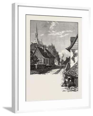 French Canadian Life, a Street in Chateau Richer, Canada, Nineteenth Century--Framed Art Print