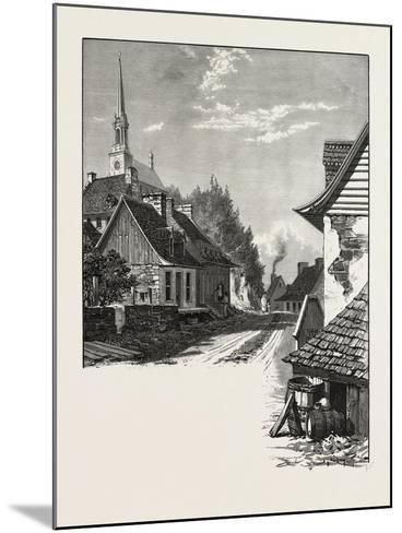 French Canadian Life, a Street in Chateau Richer, Canada, Nineteenth Century--Mounted Giclee Print