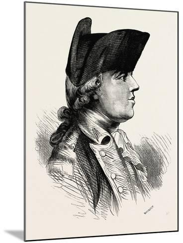 General Burgoyne Was a British Army Officer, Politician and Dramatist, 1870S--Mounted Giclee Print