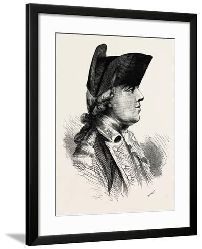 General Burgoyne Was a British Army Officer, Politician and Dramatist, 1870S--Framed Art Print