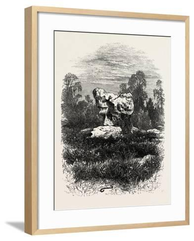 Natural Rock at Franchard, the Forest of Fontainebleau, France, 19th Century--Framed Art Print