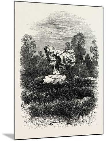 Natural Rock at Franchard, the Forest of Fontainebleau, France, 19th Century--Mounted Giclee Print
