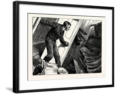Charles Dickens American Notes 1842 Rather a Heavy Sea on Sir and a Head Wind--Framed Art Print