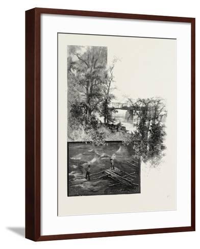The Lower Ottawa, Back River Bridge, and Shad Fishing, Canada, Nineteenth Century--Framed Art Print