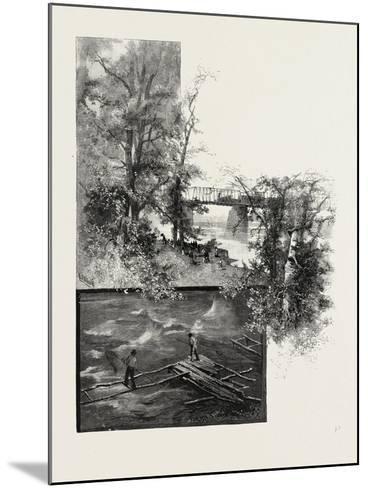 The Lower Ottawa, Back River Bridge, and Shad Fishing, Canada, Nineteenth Century--Mounted Giclee Print