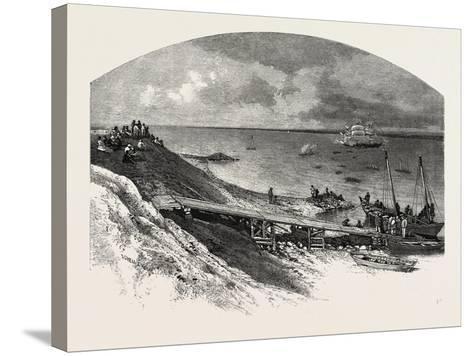 York Factory Arrival of Hudson's Bay Company's Ship, Canada, Nineteenth Century--Stretched Canvas Print