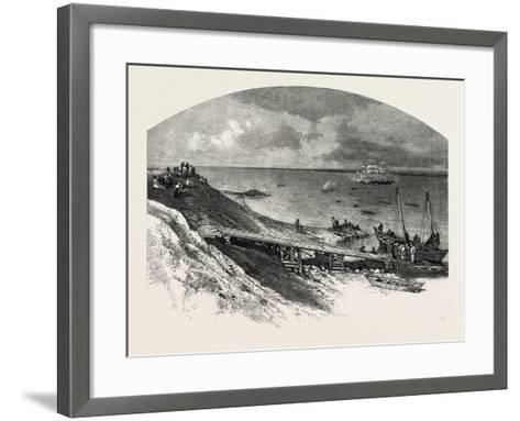 York Factory Arrival of Hudson's Bay Company's Ship, Canada, Nineteenth Century--Framed Art Print