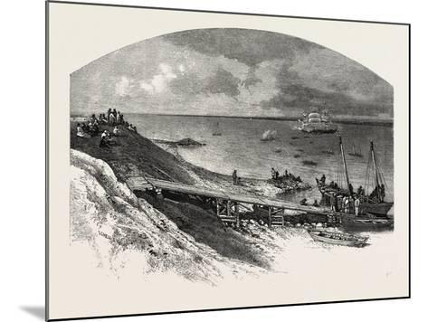 York Factory Arrival of Hudson's Bay Company's Ship, Canada, Nineteenth Century--Mounted Giclee Print