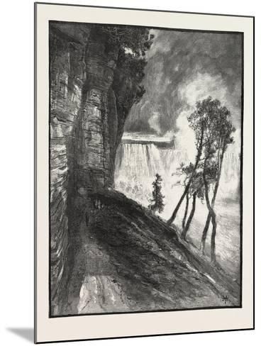 The Horse-Shoe Fall, from under Cliff at Goat Island, Canada, Nineteenth Century--Mounted Giclee Print