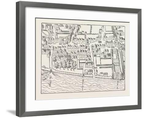 Fleet Street the Temple London from a Plan Published by Ralph Aggas 1563--Framed Art Print
