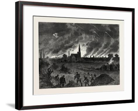 Franco-Prussian War: Strasbourg Fire During the Night Bombing of 25 August 1870--Framed Art Print