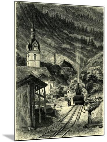 Vitznau Station on the Rigi 1464 Feet Above the Level of the Sea Switzerland--Mounted Giclee Print
