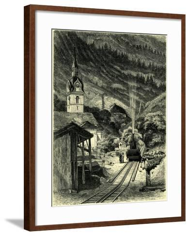Vitznau Station on the Rigi 1464 Feet Above the Level of the Sea Switzerland--Framed Art Print