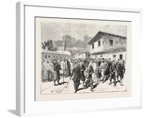 The War: a Party of Insurgents Being Conducted to Prison by the Turks, 1876--Framed Art Print