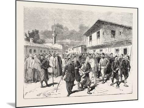 The War: a Party of Insurgents Being Conducted to Prison by the Turks, 1876--Mounted Giclee Print