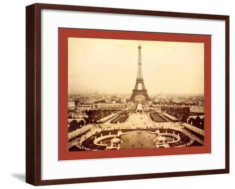Eiffel Tower and Champ De Mars Seen from Trocadéro Palace, Paris Exposition, 1889--Framed Art Print