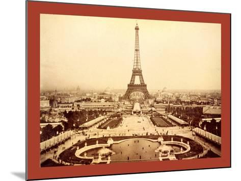 Eiffel Tower and Champ De Mars Seen from Trocadéro Palace, Paris Exposition, 1889--Mounted Giclee Print