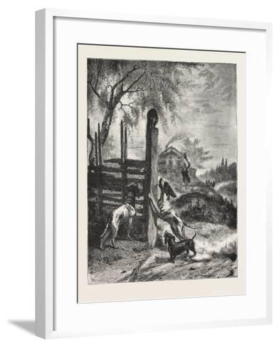 The Besieged Favourite from the Picture by B. Y. G. Brandelius 1876--Framed Art Print