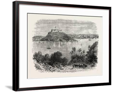 Havannah Harbour, Showing Where the Fifty Invaders Were Shot, 1870S--Framed Art Print