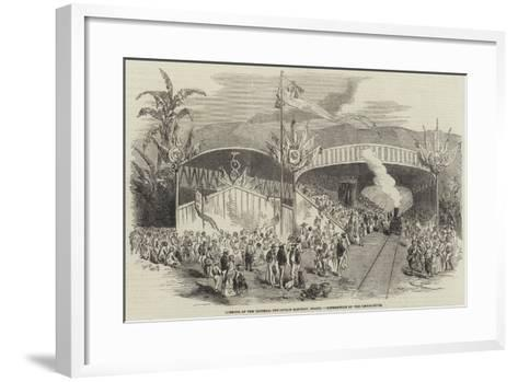 Opening of the Imperial Petropolis Railway, Brazil, Benediction of the Locomotives--Framed Art Print