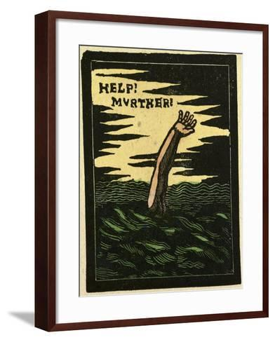 Illustration of English Tales Folk Tales and Ballads. a Person Drowning--Framed Art Print