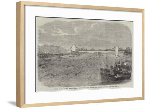 Opening of the Thames Rowing Season, Procession of the London Boat Clubs on Saturday Last--Framed Art Print