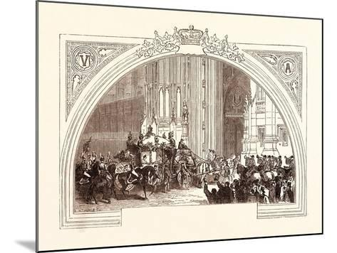 Opening of Parliament, February 3, 1852. the Victoria Tower. London, Uk--Mounted Giclee Print