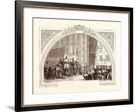 Opening of Parliament, February 3, 1852. the Victoria Tower. London, Uk--Framed Art Print