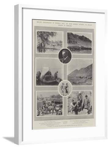 Recent Exploration in Central Asia, Dr Sven Hedin's Attempt to Reach Lhassa in Disguise--Framed Art Print