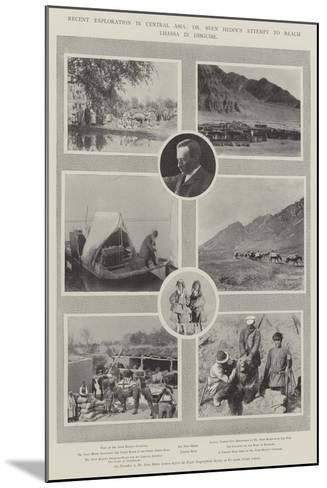 Recent Exploration in Central Asia, Dr Sven Hedin's Attempt to Reach Lhassa in Disguise--Mounted Giclee Print
