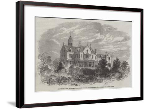 Ashburton House, Stoke's Bay, Gosport, Purchased by Government for a College for Naval Cadets--Framed Art Print