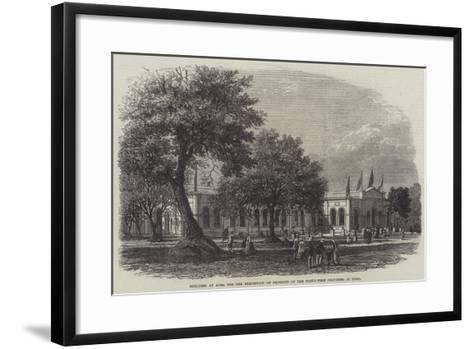 Building at Agra for the Exhibition of Products of the North-West Provinces of India--Framed Art Print