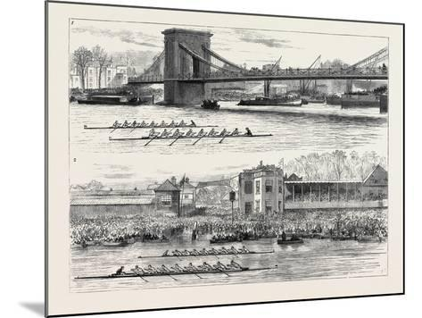 The Inter-University Boat Race: 1. Hammersmith Bridge; 2. the Dead Heat--Mounted Giclee Print