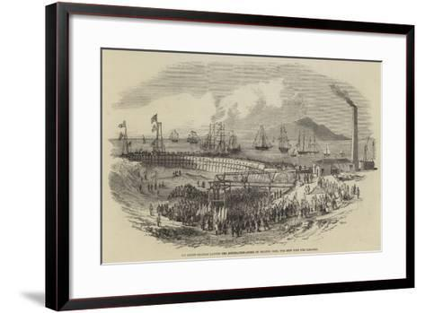 Sir James Graham Laying the Foundation-Stone of Silloth Dock, the New Port for Carlisle--Framed Art Print