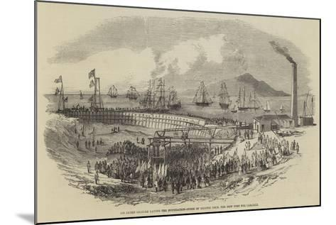 Sir James Graham Laying the Foundation-Stone of Silloth Dock, the New Port for Carlisle--Mounted Giclee Print