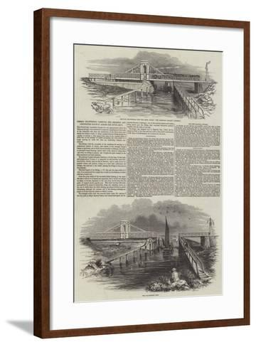 Timber Drawbridge Carrying the Brighton and Chichester Railway across the River Arun--Framed Art Print