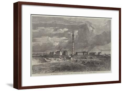 The Metropolitan Main Drainage, General View of the Southern Outfall Works at Crossness--Framed Art Print