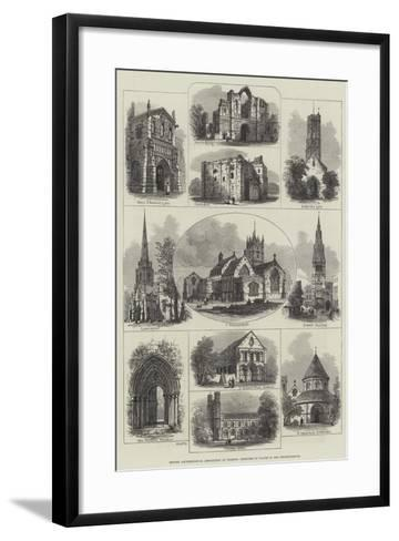 British Archaeological Association at Wisbech, Sketches of Places in the Neighbourhood--Framed Art Print