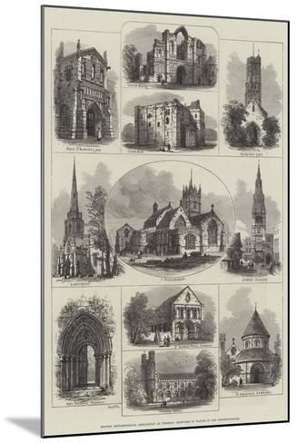 British Archaeological Association at Wisbech, Sketches of Places in the Neighbourhood--Mounted Giclee Print
