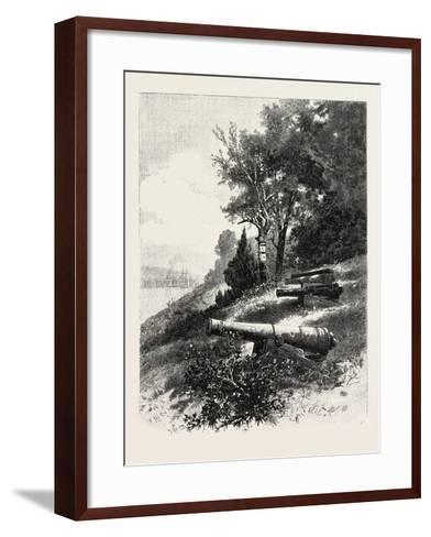 Montreal, Old Battery, St. Helen's Island, Canada, Nineteenth Century--Framed Art Print