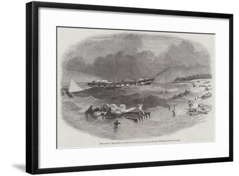 The Barque Sir Fowell Buxton on Shore at Capin Assu, on the North-East Coast of Brazil--Framed Art Print
