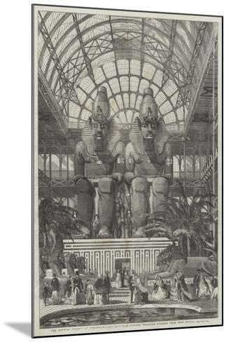 The Crystal Palace at Sydenham, the Egyptian Avenue, Colossal Figures from Aboo Simbel--Mounted Giclee Print